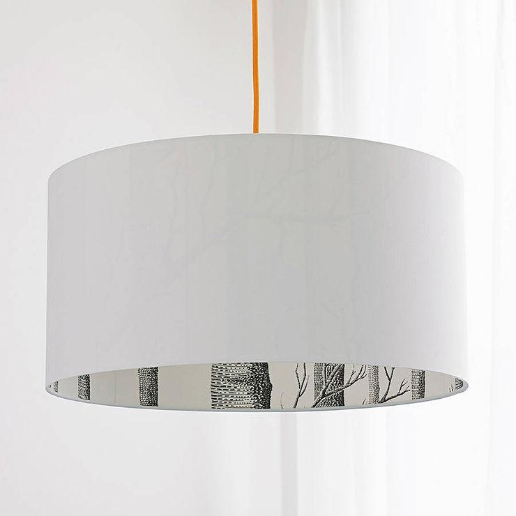 The Woods Silhouette Lampshade in Crisp White love frankie Living roomLighting