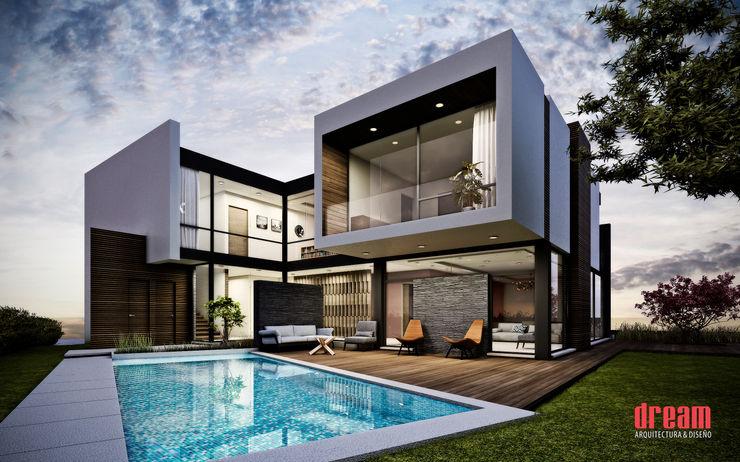Vista Exterior - Fachada Interior Estudio Meraki Balcones y terrazas modernos