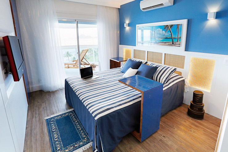 Mayra Lopes Arquitetura | Interiores Tropical style bedroom