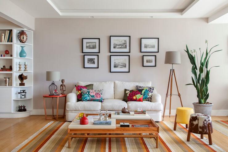 Sala de estar Da.Hora Arquitetura Salas de estar ecléticas