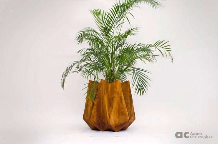 Kronen 65 Planter In Rust Effect Concrete Adam Christopher Design GiardinoFioriere & Vasi Cemento Arancio