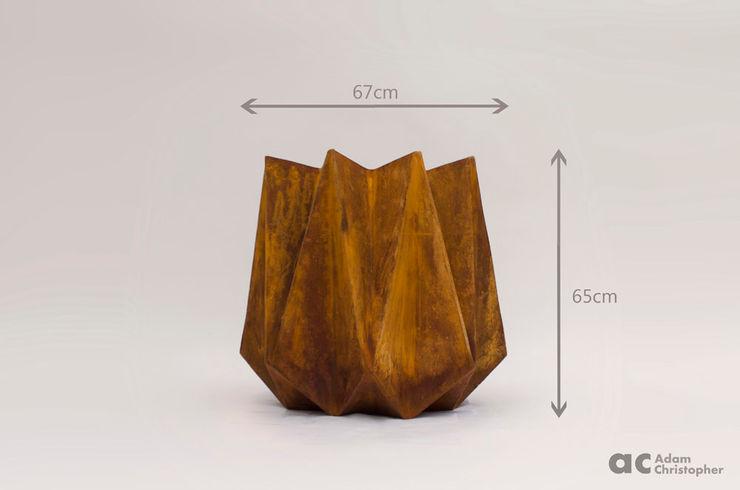 Kronen Tall in Corten Steel effect Adam Christopher Design GiardinoFioriere & Vasi
