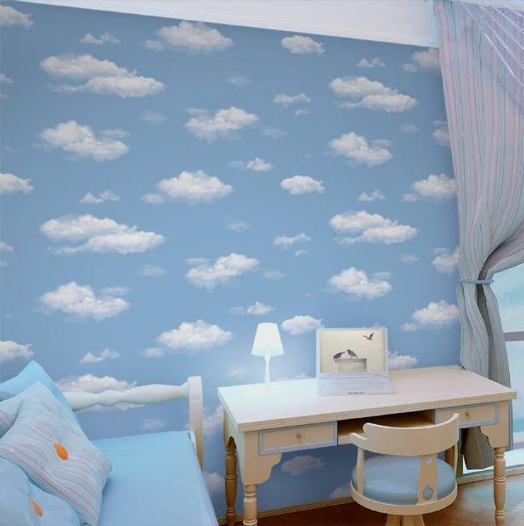 4 Duvar İthal Duvar Kağıtları & Parke Quartos de criança modernos