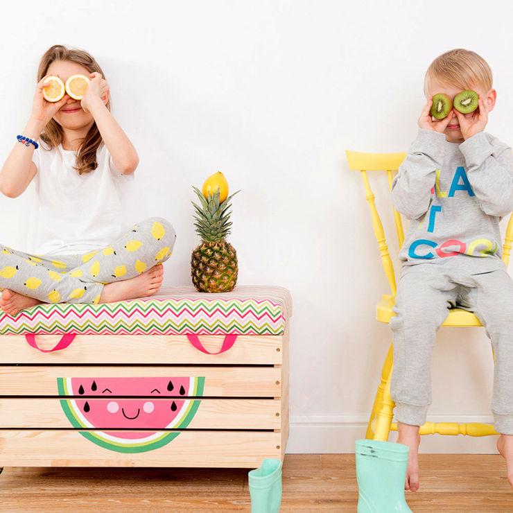 "Wooden toy box ""Watermelove"" NOBOBOBO Nursery/kid's roomStorage"