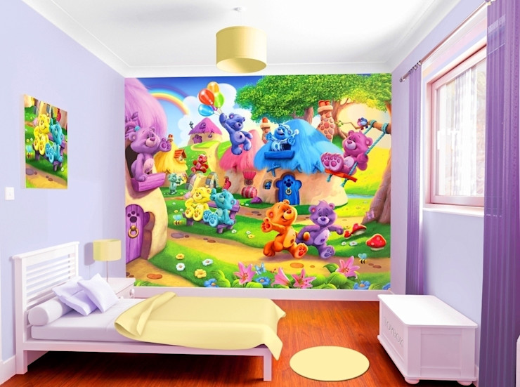 Childrens Wall Murals Banner Buzz Interior landscaping