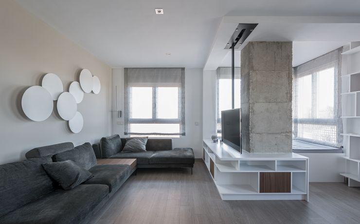 Sala de estar LLIBERÓS SALVADOR Arquitectos Salones de estilo minimalista