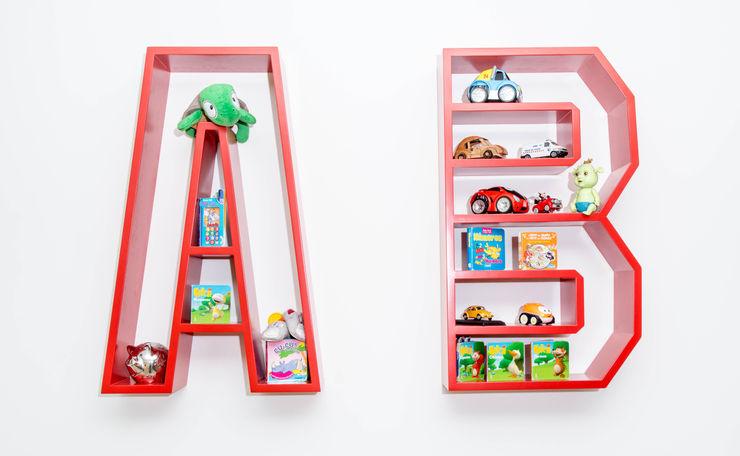 Ângela Pinheiro Home Design Scandinavian style nursery/kids room Wood Multicolored