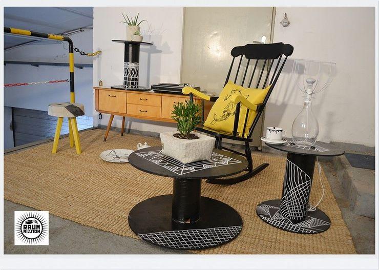 Raummission Modern living room Wood Multicolored