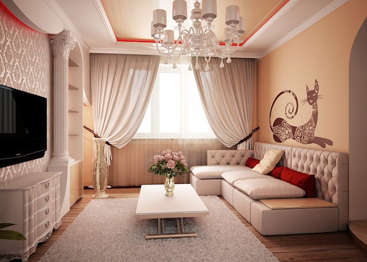 Двухкомнатная квартира. Часть Инна Михайская Гостиная в классическом стиле