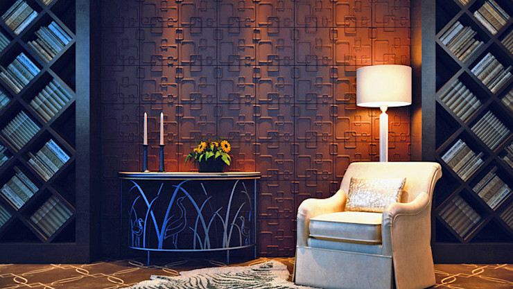 Paredes Decorativas 3D OLINA A EXCLUSIVA - Sustainable Buildings Materials Parede e pisoDecoração de parede Fibra natural Branco
