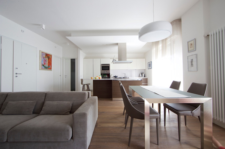Open space Modularis Progettazione e Arredo Sala da pranzo moderna