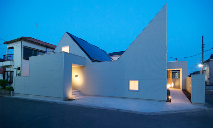 夕景 星設計室 ミニマルな 家