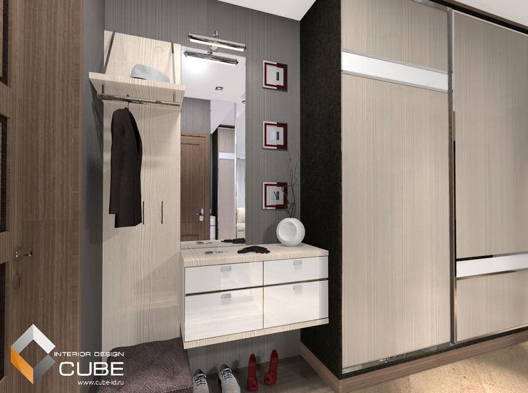 Лаборатория дизайна 'КУБ' Pasillos, halls y escaleras minimalistas