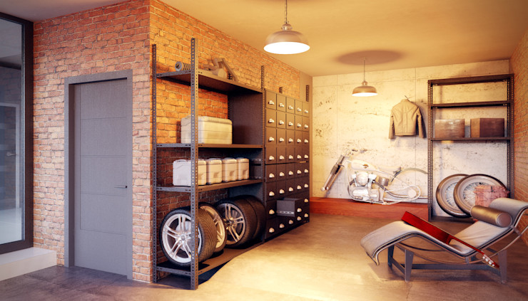 Александр Б Eclectic style garage/shed