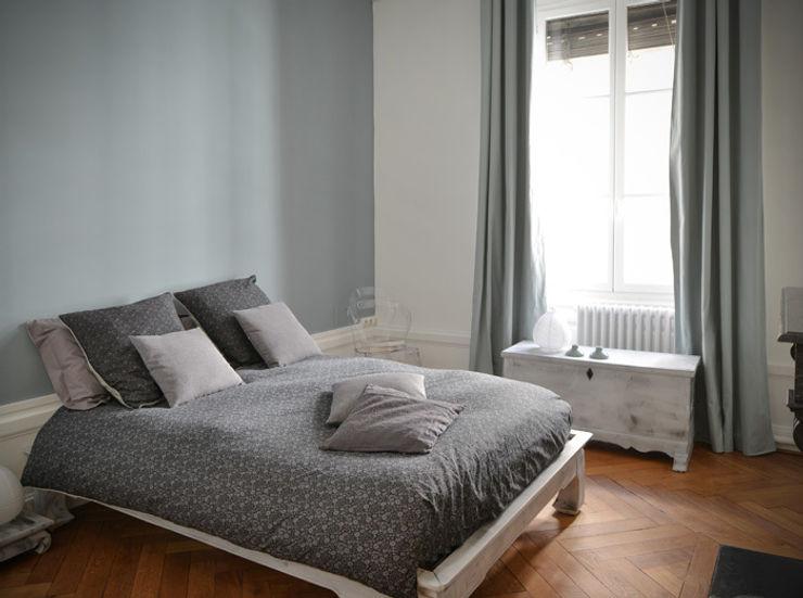 Rénovation d'un appartement haussmannien à Lyon 06 Marion Lanoë Chambre moderne