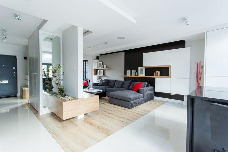 Open plan living room GK Architects Ltd SalonPlacards & Buffet
