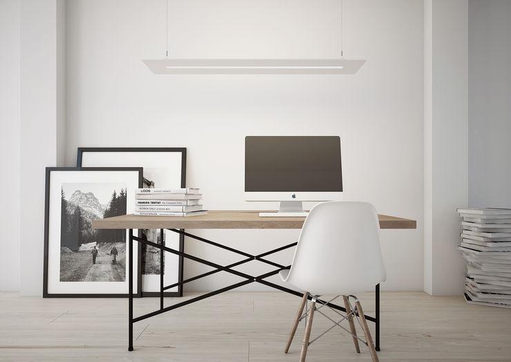 ImagineCG Espaços de trabalho minimalistas