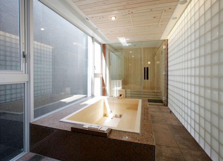 バスルームとサウナ Egawa Architectural Studio オリジナルスタイルの お風呂