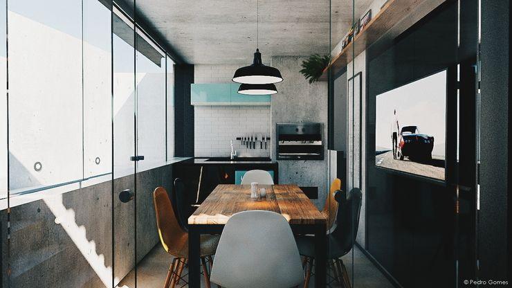 285 arquitetura e urbanismo Endüstriyel Mutfak