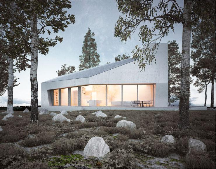 E20 homify Minimalistische Häuser