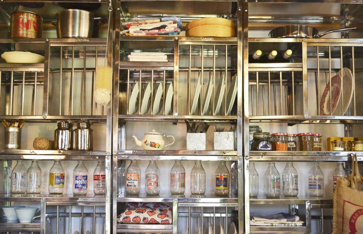Stainless steel plate racks The Plate Rack CocinaEstanterías y gavetas