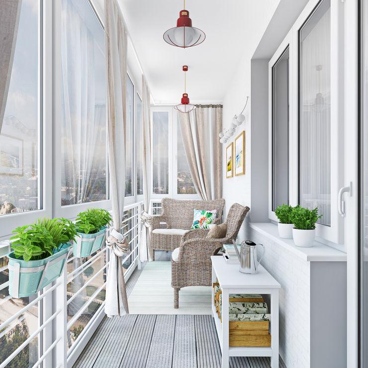 Ekaterina Donde Design Balcone, Veranda & Terrazza in stile scandinavo