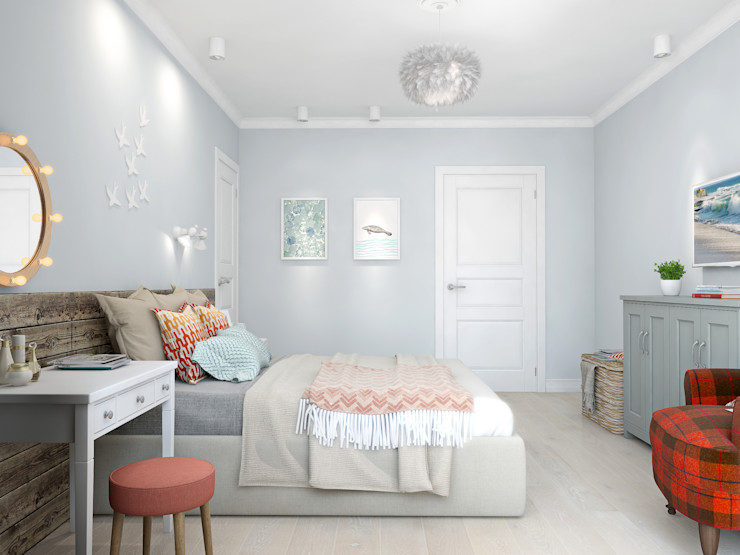 Ekaterina Donde Design Skandinavische Schlafzimmer