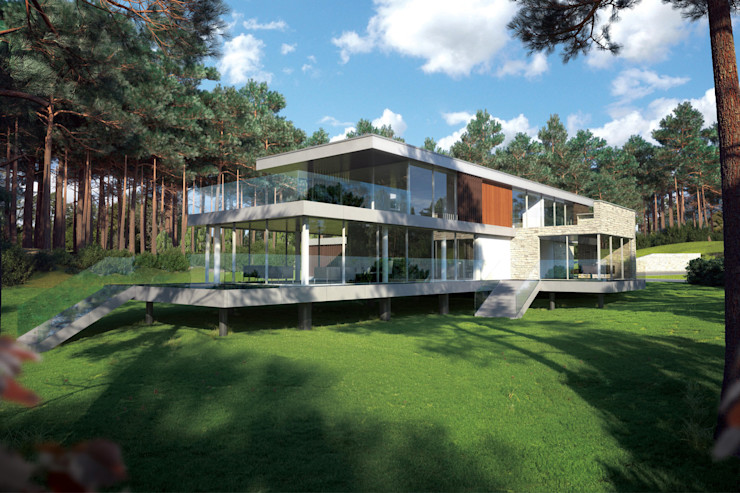 Canford Cliffs, Poole David James Architects & Partners Ltd Modern houses