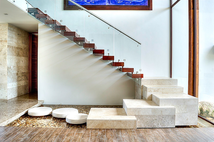 Ancona + Ancona Arquitectos 熱帶式走廊,走廊和樓梯
