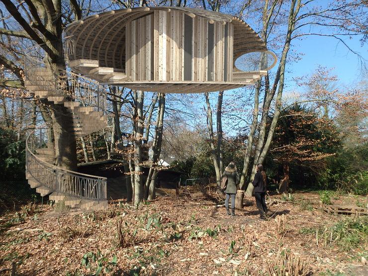 Baumhäuser baumhausprofi Rustikaler Garten