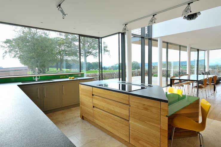 Carreg a Gwydr Hall + Bednarczyk Architects 現代廚房設計點子、靈感&圖片