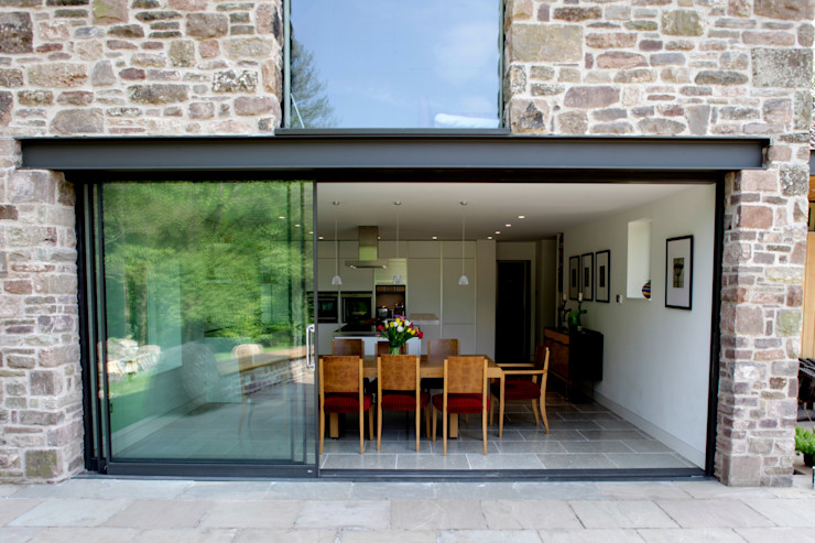 Veddw Farm, Monmouthshire Hall + Bednarczyk Architects Modern Houses