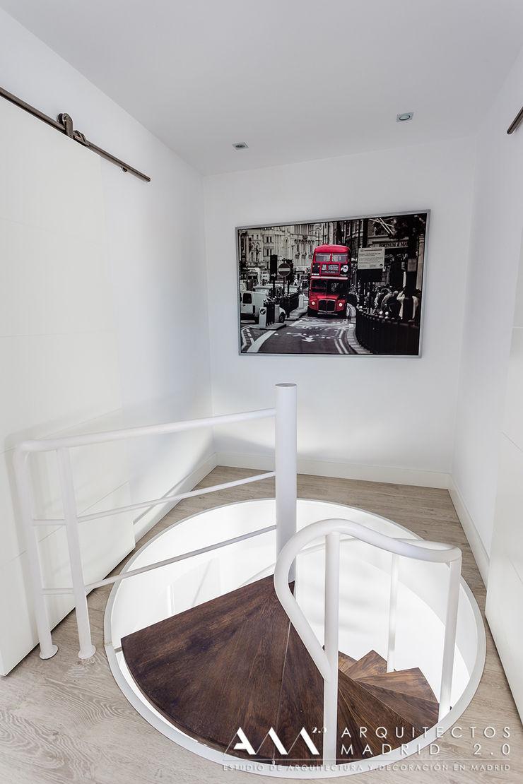 hall ático Arquitectos Madrid 2.0 Pasillos, vestíbulos y escaleras de estilo moderno