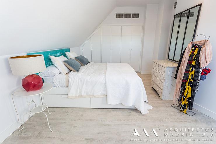 dormitorio kitsch - moderno Arquitectos Madrid 2.0 Dormitorios de estilo mediterráneo