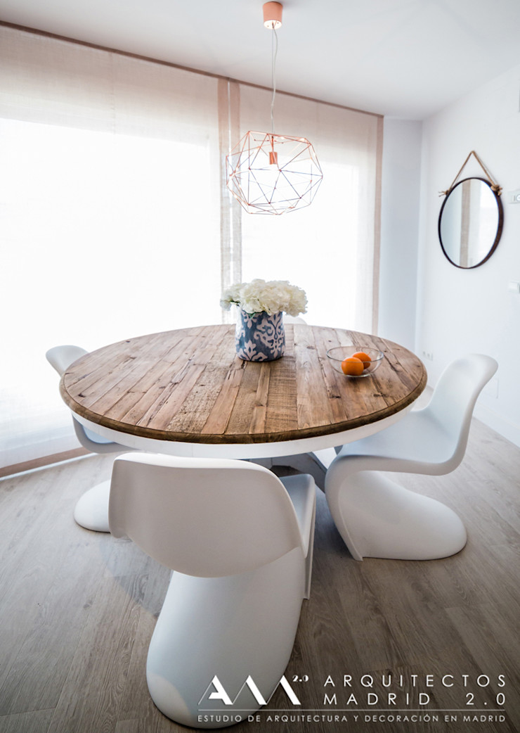 mesa comedor moderna minimalista madera Arquitectos Madrid 2.0 Comedores de estilo minimalista