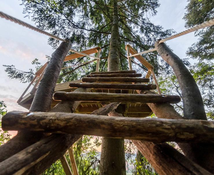 Luftschlösser Baumhausprojekte _ Im Wald über Tübingen Luftschlösser Ausgefallener Flur, Diele & Treppenhaus