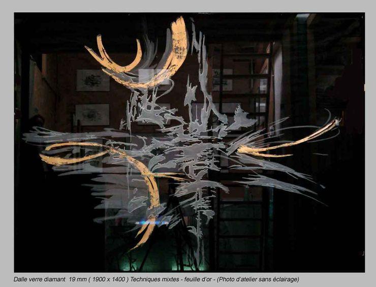 christian herry sculpture verre Salas de estar modernas