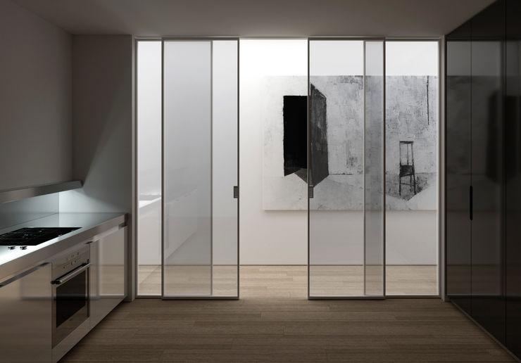 MOVI ITALIA SRL المنزلقواطع الغرف و الألواح الشبكية زجاج Metallic/Silver