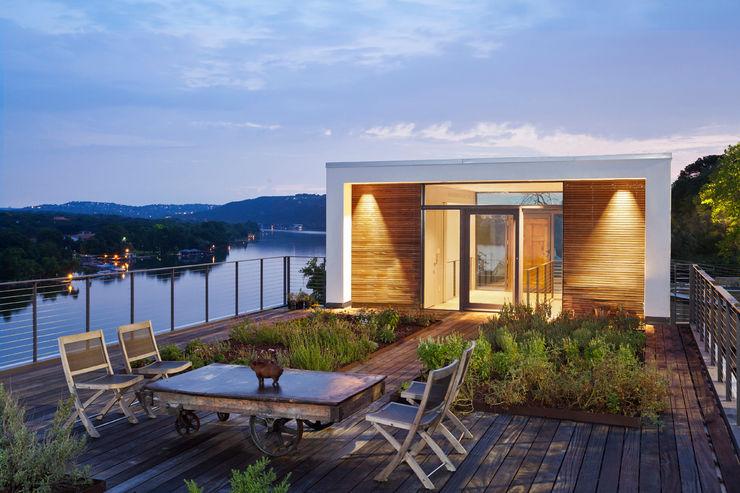 Cliff Dwelling Specht Architects Balcon, Veranda & Terrasse modernes