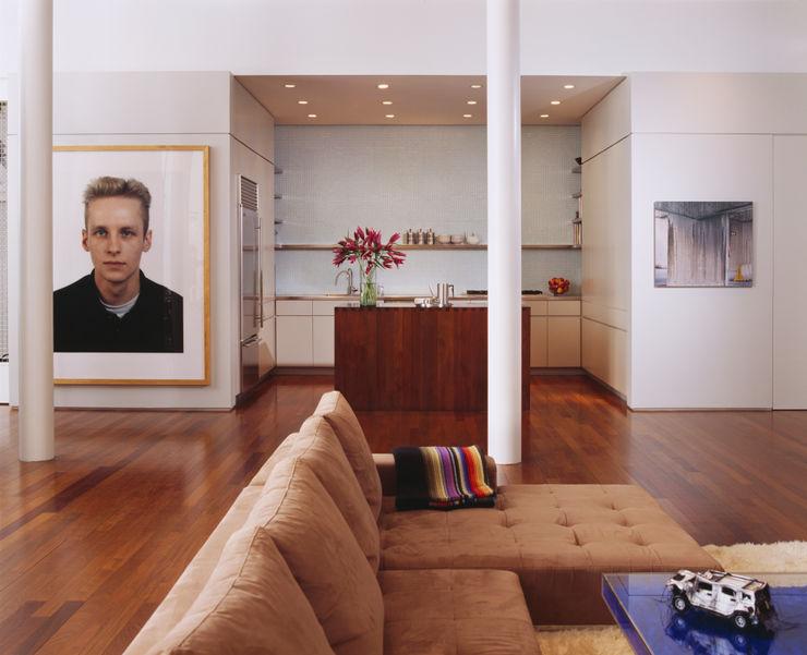 Meltzer Ames Loft Specht Architects Moderne Wohnzimmer