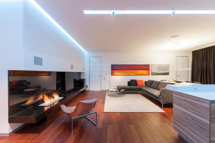apartment V-21 VALENTIROV&PARTNERS Livings de estilo minimalista