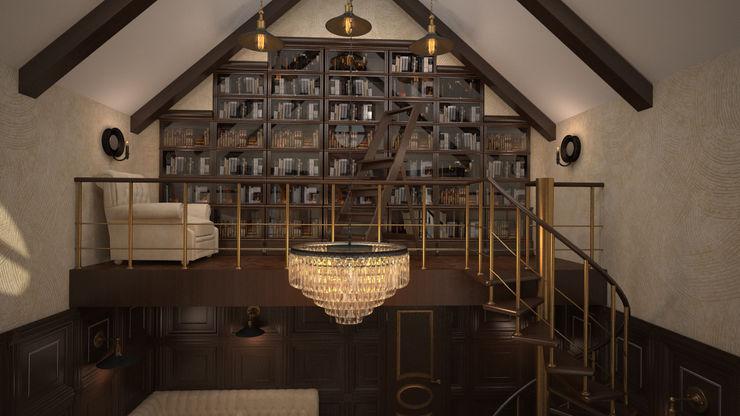 Интерьер кабинет- библиотеки. Николина гора дизайн-бюро ARTTUNDRA Рабочий кабинет в классическом стиле