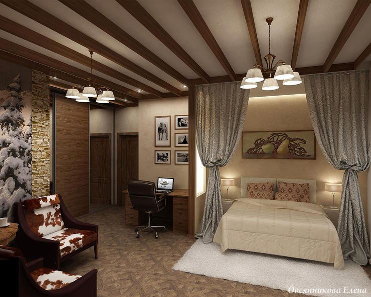 Елена Овсянникова Rustic style bedroom