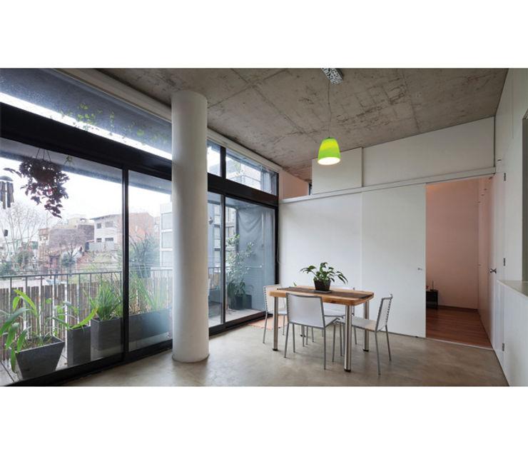 IR arquitectura Modern Dining Room Glass White