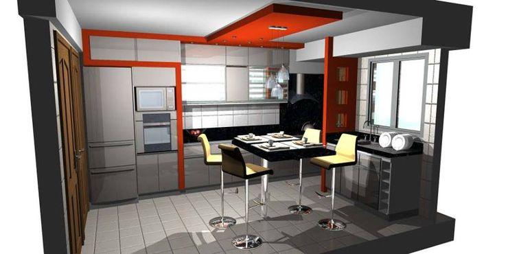 Cocina integrada. pb Arquitecto Cocinas minimalistas Compuestos de madera y plástico Rojo