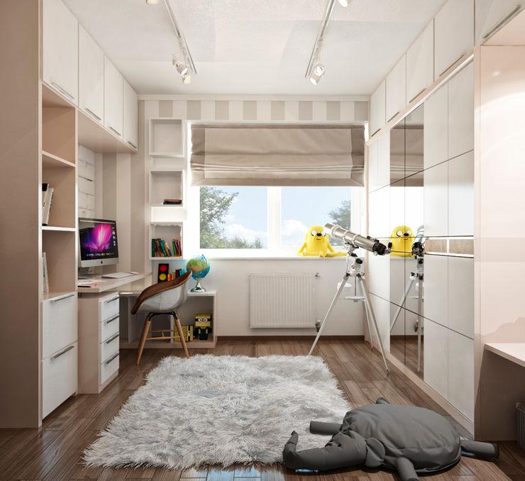 Студия архитектуры и дизайна ДИАЛ Dormitorios infantiles minimalistas