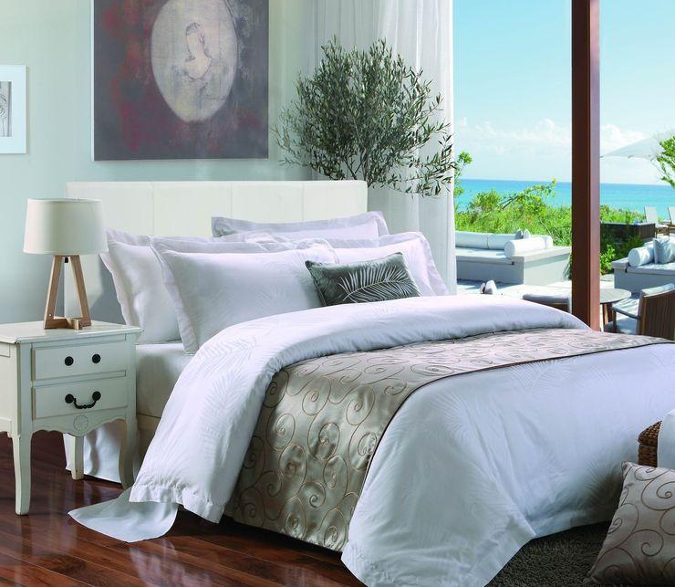 King of Cotton France Dormitorios clásicos Algodón Beige