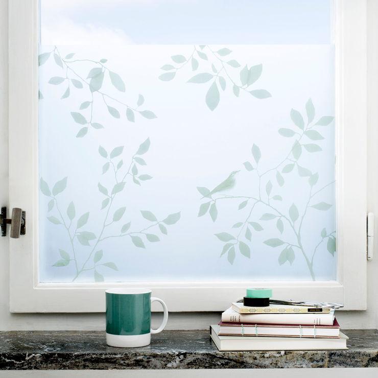 Birds in Tree BY MAY/ Siluett Frost Window Film Janelas e portasDecoração de janela