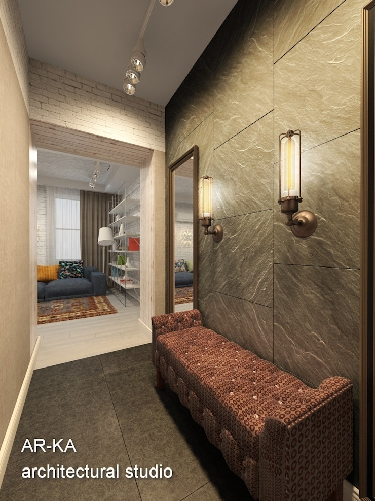 AR-KA architectural studio industrial style corridor, hallway & stairs
