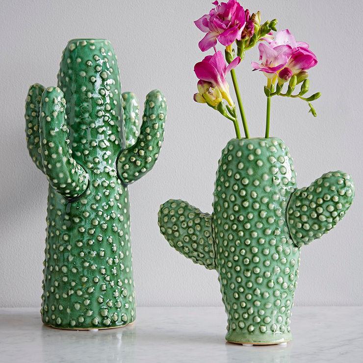 Ceramic Cactus Vases rigby & mac المنزلديكورات واكسسوارات
